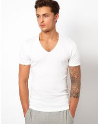 G-Star RAW | White G Star Two Pack V-neck T-shirt for Men | Lyst