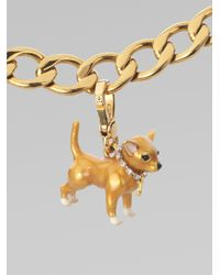 Juicy Couture | Metallic Chihuahua Charm | Lyst