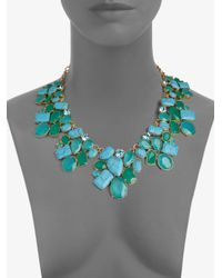 kate spade new york - Cluster Bib Necklace - Lyst