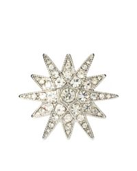 Kenneth Jay Lane - Metallic Starburst Ring - Lyst