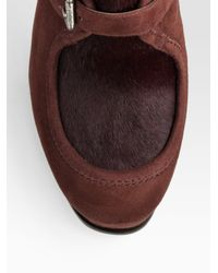 Kors by Michael Kors | Brown Irving Wollabee Suede & Calf Hair Ankle Boots | Lyst