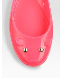 Marc By Marc Jacobs - Pink Jelly Mouse Ballet Flats - Lyst