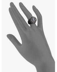 M.c.l  Matthew Campbell Laurenza | Blue Sapphire White Topaz Blue Topaz Sterling Silver Flower Pot Ring | Lyst