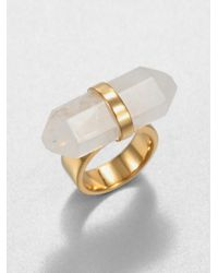 Michael Kors | White Rock Quartz Ring | Lyst