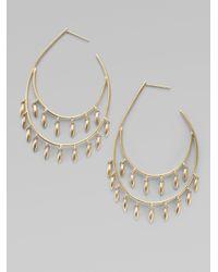 Padma - Metallic 14k 10k Gold 2 Row Pod Hoop Earrings - Lyst