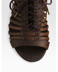 Rag & Bone - Brown Horos Woven Oxford Sandals - Lyst