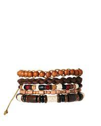 Simon Carter - Brown River Island Beaded Bracelet Pack for Men - Lyst