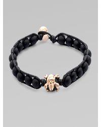Stephen Webster Black Onyx & Leather Bracelet for men