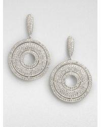 Adriana Orsini | Metallic Crystal Accented Open Center Circle Drop Earrings | Lyst
