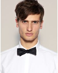 ASOS Black Self Tie Bow Tie for men