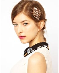 ASOS Collection - Brown Limited Edition Jewel Hair Brooch - Lyst