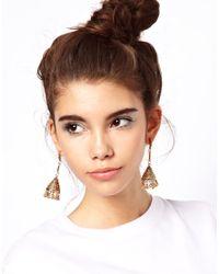 ASOS - Metallic Drop Bell Earrings - Lyst