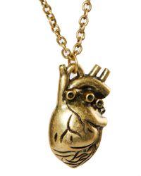 ASOS - Metallic Heart Necklace - Lyst