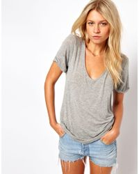 ASOS | Gray The Forever T-shirt In Soft Touch | Lyst