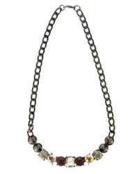 ASOS Gray Pack Of Three Skull Spike Necklaces