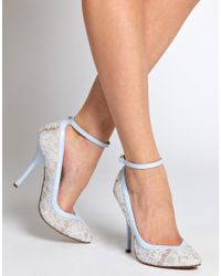ASOS White Pout Pointed High Heels