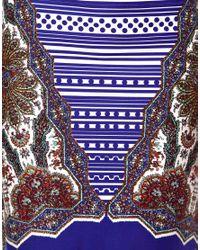 ASOS - Purple Pencil Skirt in Paisley Print - Lyst
