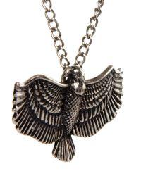 ASOS Metallic Eagle Pendant Necklace for men