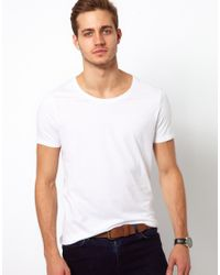 ASOS | White T-shirt With Scoop Neck 3 Pack Save 17% for Men | Lyst