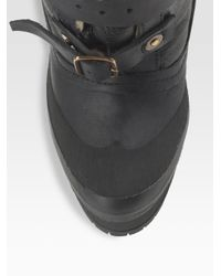 Burberry Prorsum - Black Shearling-lined Platform Ankle Boots - Lyst