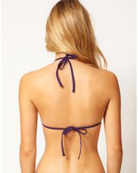 Calvin Klein - Blue Triangle Bikini Top - Lyst