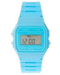 G-Shock | F-91wc-2aef Digital Blue Watch | Lyst