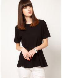 Cheap Monday Black Peplum T-shirt
