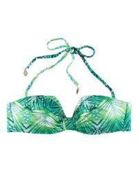 H&M Green Triangle Bikini Top