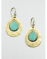 Ippolita - Mint Chrysoprase and 18k Gold Crinkle Earrings - Lyst