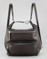 Marni Lambskin Backpack Black