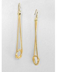 Michael Kors | Metallic Knotted Snake Chain Drop Earrings | Lyst