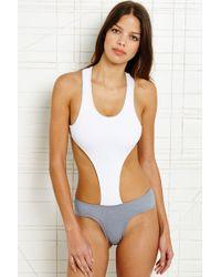 Minimale Animale - White Animale Vice Cutout Swimsuit - Lyst