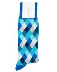 Paul by Paul Smith - Blue Paul Smith Harlequin Socks for Men - Lyst