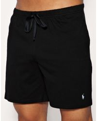 Polo Ralph Lauren Black Lounge Shorts In Regular Fit for men