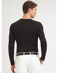 Ralph Lauren Black Label - Black James Stretch Cotton Pant for Men - Lyst