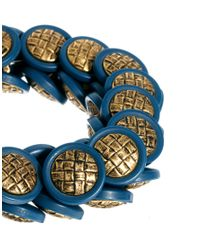 Sam Ubhi - Metallic Vintage Button Bracelet - Lyst