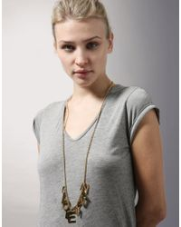 Sophie Hulme Metallic 24ct Gold Plated I Love My Nan Long Necklace