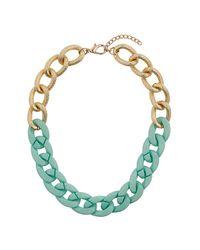 TOPSHOP | Textured Half Green Chain | Lyst