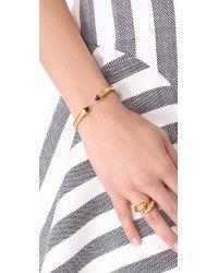 Vita Fede - Metallic Mini Luciano Bracelet - Gold/green - Lyst