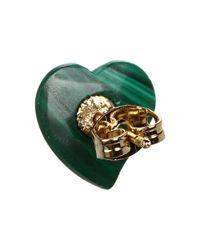 Vivienne Westwood - Green Mini Gem Liz Earring - Lyst