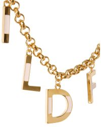 Wildfox | Metallic Letters Necklace | Lyst