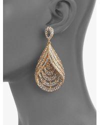 ABS By Allen Schwartz - Metallic Glass Chandelier Teardrop Earrings - Lyst