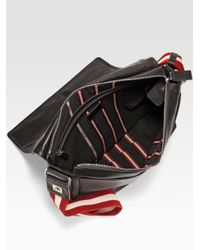 Bally | Brown Leather Messenger Bag for Men | Lyst