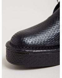 Barny Nakhle Black Womens Python High Top Platform Shoes