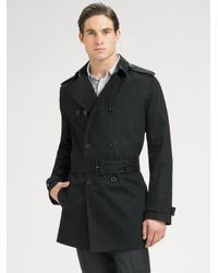 Dior Homme | Black Canvas Trench Coat for Men | Lyst