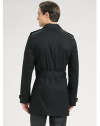 Dior Homme - Black Canvas Trench Coat for Men - Lyst