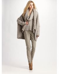Donna Karan Gray Woolcashmere Cardigan Coat