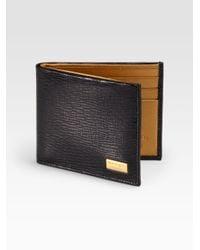 Ferragamo - Black Revival Dragon Slim Wallet for Men - Lyst