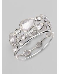 Ippolita Metallic Clear Quartz Sterling Silver Bracelet
