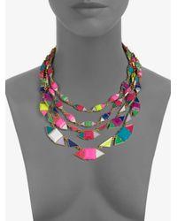 Kate Spade | Multicolor Pueblo Tiles Multistrand Necklace | Lyst